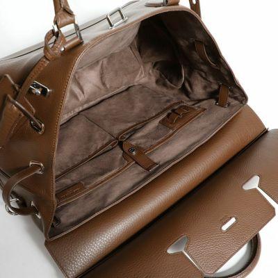 おしゃれな人気ブランドのメンズボストンバッグはPELLE MORBIDAの被せ付ボストンバッグ