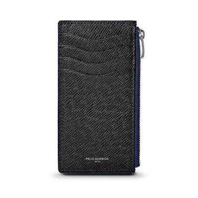 薄型ミニ財布(ブラックの正面)